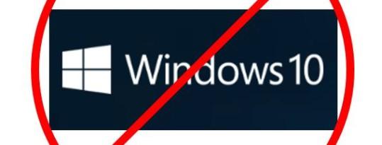 Avoiding Windows 10